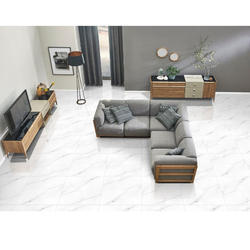 Marble White Floor Tiles, Size: 600 x 600 mm