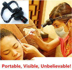 Ear Light Professional Head Light for Ear Cleaning Care Zoom Headlamp 4 Light Gears for ENT Doctors