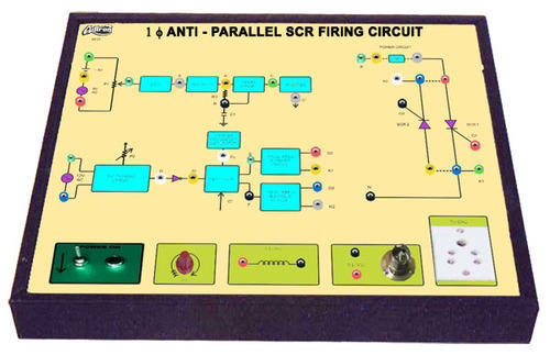Scr Firing Circuit Diagram | 1 Phase Anti Parallel Scr Firing Circuit Trainer At Rs 33000