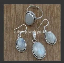 Rainbow Moonstone Gemstone Fancy Jewelry Nice Set