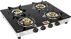 Black Glass 4 Burner Gas Stove