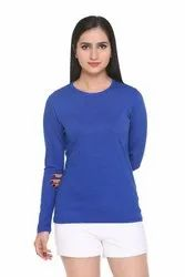 HARBORNBAY Casual Cotton Full Sleeves Women T Shirt, Size: S M L XL 2XL