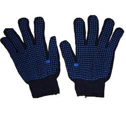 Cotton Dotted Knitted Hand Gloves