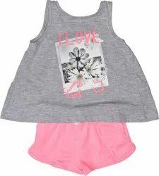 Round Casual Wear Kids T-Shirt Short