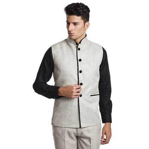 a67b62697 Men's Nehru / Modi Jacket Silver Colour