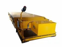Battery Operated Trackless Platform Cart _ Battery Operated Flat Bed Truck