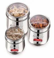 Arhanto Deluxe Stainless Steel Three Canister Set