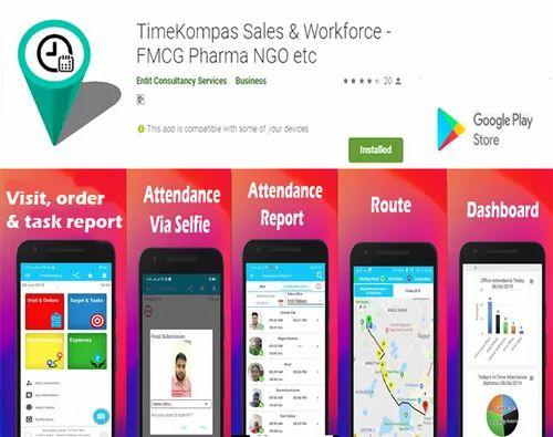 UI TimeKompas Employee Attendance App, Timekompas Online
