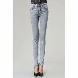 Stretchable Ladies Denim Skinny Jeans, Waist Size: 28-42 Inch