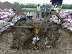Safe Bearing capacity Cyclic Plate Load Test, Construction