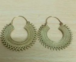 Europe And The United States   Hollow Pattern Personalized Retro Semi  Circular Ethnic Earring