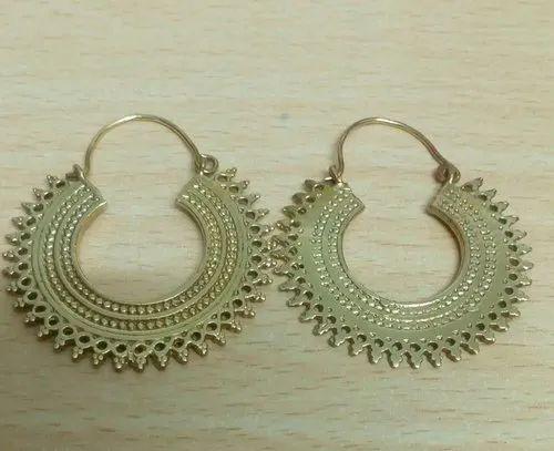Hollow Pattern Personalized Retro Semi Circular Ethnic Earring