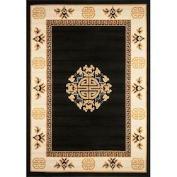 Multicolor Rectangular Designer Floor Rug