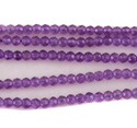 Natural Purple Amethyst Micro Round Faceted Beads