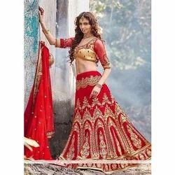 Stitched Red Bridal Lehenga