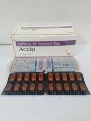 Aceclofenac 100mg,Paracetamol Ip 325mg Tablets