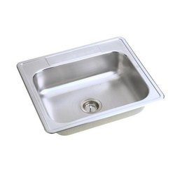 Stainless SteelSquare Bowl Kitchen Sink, Size - 24X18X10