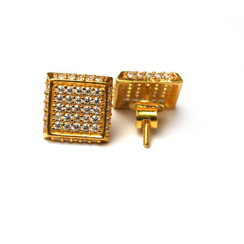 90926519e 18K Gold Ear Tops at Rs 9200 /piece   Ear Tops - Vishesh Jewels ...