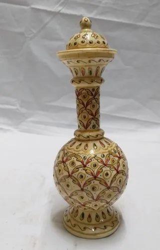 Decoration Golden Decorative Emboss Painted Bone Pot/Surai