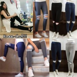 Knee Cut Leggings, Size: Up To 36