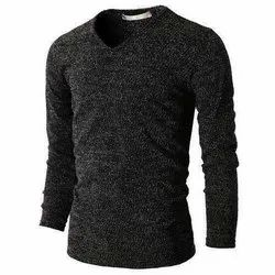 Cotton Full Sleeves Mens Knitted T Shirt