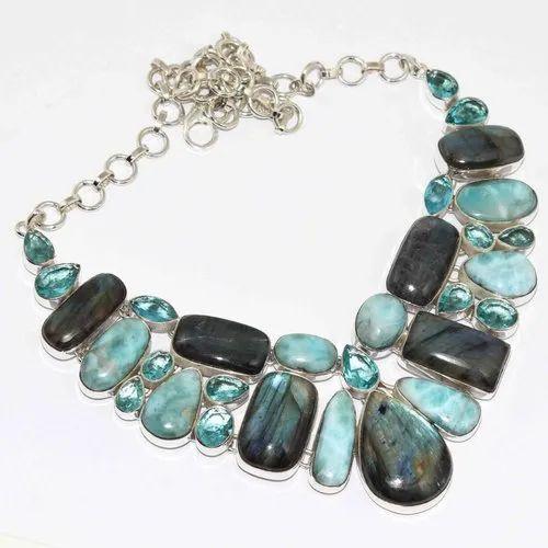 a108419b978c2 Topaz Quartz Handmade 925 Sterling Silver Necklace