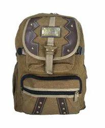 Side Lock Brown School Bag