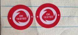 Ok Tested Sticker