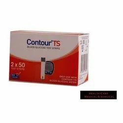 Plastic Contour TS Blood Glucose Test Strips