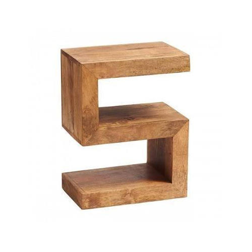 Brown S Shaped Wooden Side Table Rs