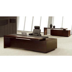 Rectangular Wood Elegant Executive Table