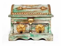 Wooden Handmade Antique Jewelry Box Multipurpose Box Wedding Gifts Decorative Item Home Decor