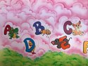 Play School Cartoon Wall Painting