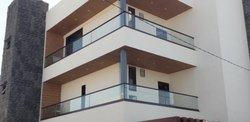 Toughened Glass Aluminium Balcony Railing, For Home,Office And Hotel