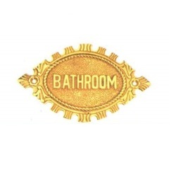 Bathroom Oval Sign Plate
