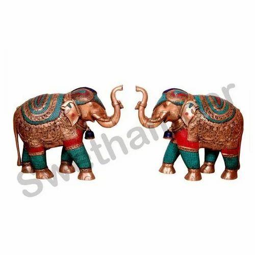 Decorative Brass Elephant Statue