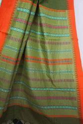 100% Pure Cotton. Begampuri Cotton Saree (TB0136), 6.5 Mt