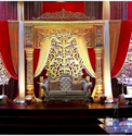 Gold Wedding Stage