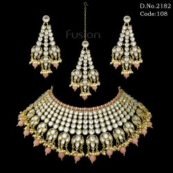 Traditional Indian Wedding Kundan Necklace Set