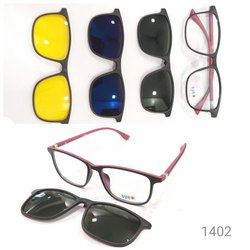 Demo Lens Attachment Frame Sunglass Tr90 Material Unbreakable 1402, Size: 50 Mm