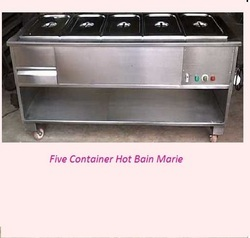 Five Container Bain Marie With Railing