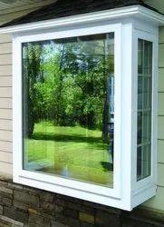 Fortune White UPVC Box Bay Window, 12 MM