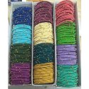 Anmol Exports Decorative Silk Thin Thread Bangles, Packaging Type: Box