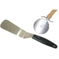 Stainless Steel Pizza Cutter And Cake Cutter Combo, For Hotel