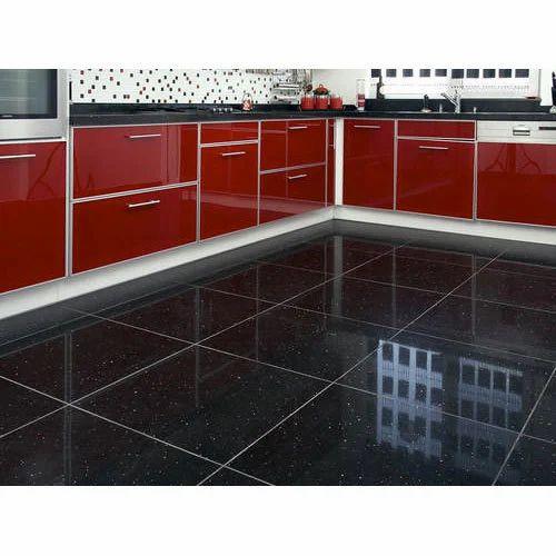 Black Granite Floor Tile at Rs 350 /square feet | Floor Tile ...