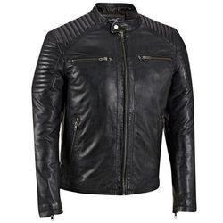 Black Men Leather Jacket