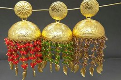 Golden Hanging Jhumki