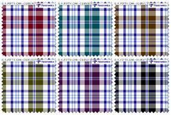 PC Dyed Check Shirting Fabric