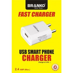Branko 2.4 Amp Wall Charger With Cable
