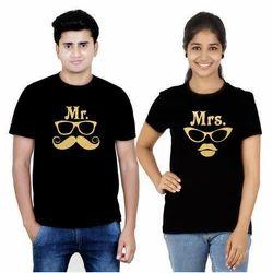 Couple Black T Shirt